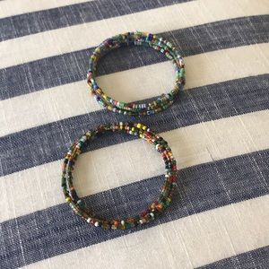 Set of Two Artisan Bracelets